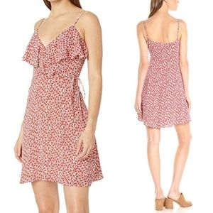 Bailey 44 Negril Dress Floral Ruffle Size 8 Red